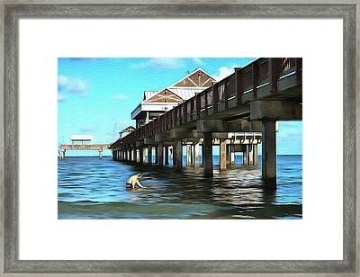 Pier 60 - Clearwater Florida  Framed Print by L Wright