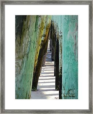 Pier Anchors  Framed Print by Marcia L Jones