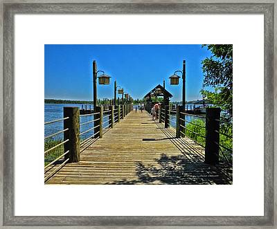 Pier At Fort Wilderness Framed Print by Thomas Woolworth