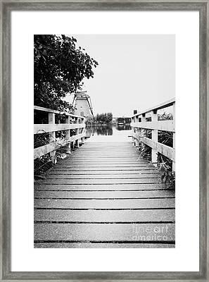 Pier At Kinderdjik Framed Print by Ivy Ho