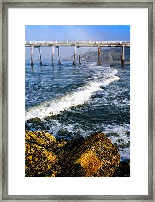 Pier Breakers Framed Print by Ron Regalado