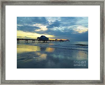 Pier In Pastel Framed Print by D Hackett
