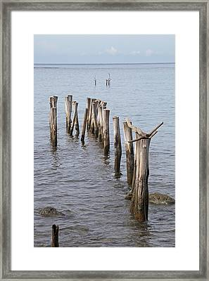 Pier Framed Print by Jim Nelson