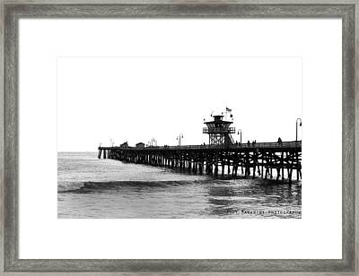 Pier Framed Print by Joey  Maganini
