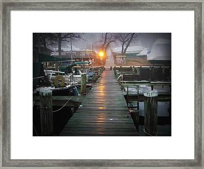 Pier Light Framed Print by Brian Wallace