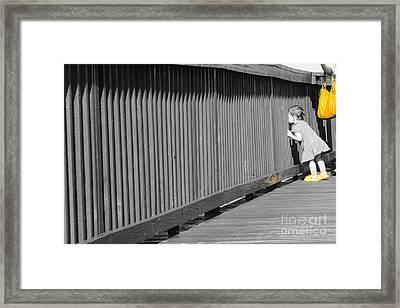 Pier Framed Print by Lynda Dawson-Youngclaus