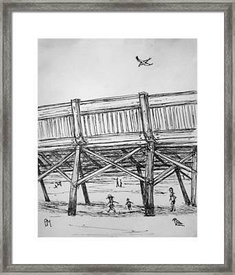 Pier Pressure Framed Print by Pete Maier