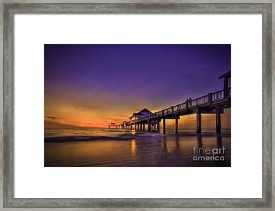 Pier Reflections Framed Print by Marvin Spates