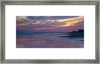 Pier Sunset Framed Print by Betsy Knapp