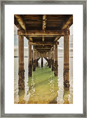 Pier Under 2 Framed Print by Colin and Linda McKie