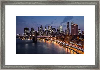 Piercing Manhattan Framed Print by Mihai Andritoiu