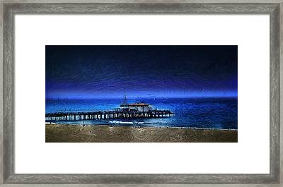 Piering Into The Night Framed Print by Cary Shapiro