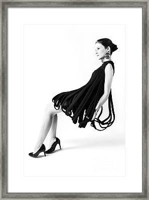 Pierre Cardin Car Wash Dress Framed Print by Diane Diederich