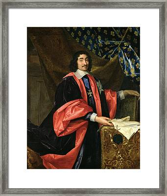 Pierre Seguier 1588-1672 Chancellor Of France, C.1668 Oil On Canvas Framed Print by Henri Testelin