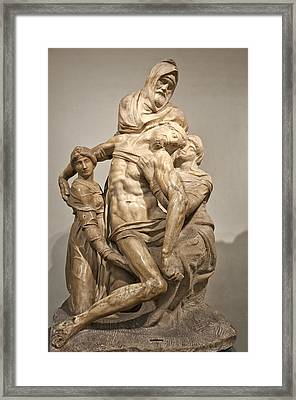 Pieta By Michelangelo Framed Print by Melany Sarafis