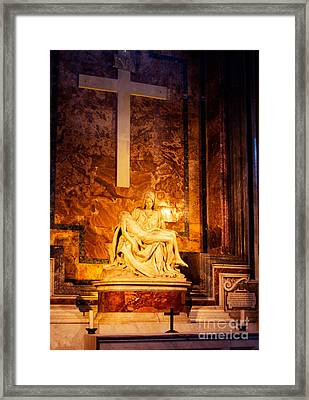 Pieta By Michelangelo Framed Print by Phill Petrovic