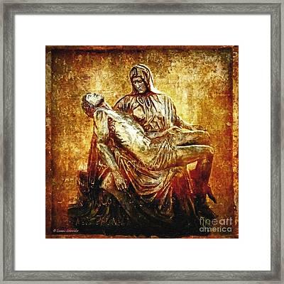 Pieta Via Dolorosa 13 Framed Print by Lianne Schneider