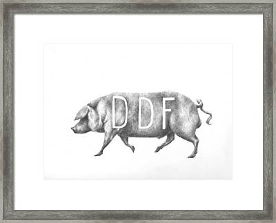 Pig Framed Print by Alexander M Petersen
