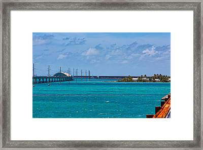 Pigeon Key And The Overseas Highway. Framed Print by John Bailey