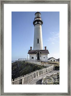 Pigeon Point Lighthouse Framed Print by Amy Fearn