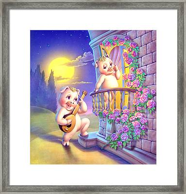 Pigglets Romeo And Juliette Framed Print by Andrew Farley