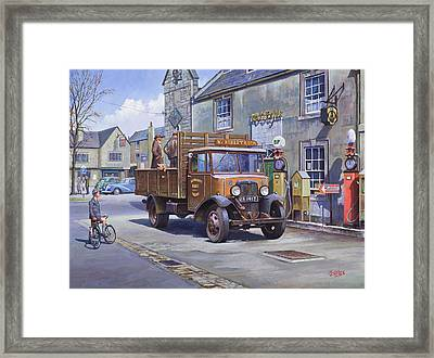 Piggy Goes To Market Framed Print by Mike  Jeffries
