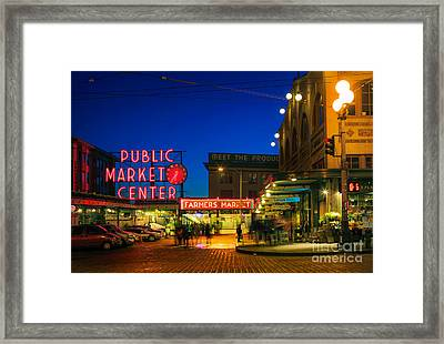 Pike Place Market Framed Print by Inge Johnsson