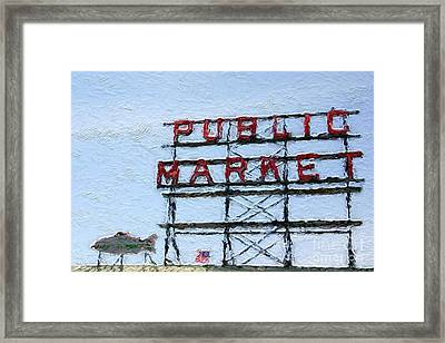 Pike Place Market Framed Print by Linda Woods