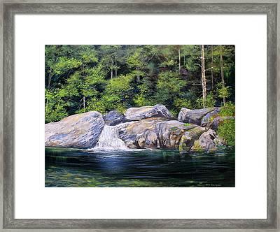Pikes Falls Framed Print by Ken Ahlering