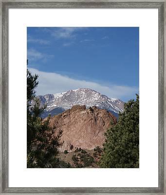 Pikes Peak 2 Framed Print by Ernie Echols
