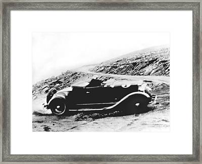 Pikes Peak Auto Race Framed Print by Underwood Archives