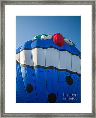 Piko The Hot Air Balloon Framed Print by Edward Fielding