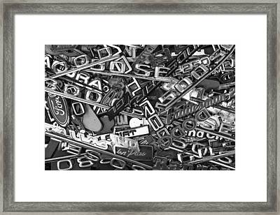 Pile Of Badges 2 Framed Print by Scott Campbell