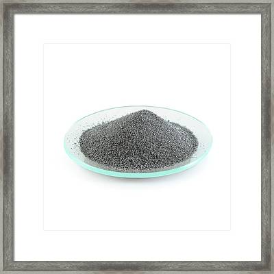 Pile Of Iron Filings Framed Print by Science Photo Library
