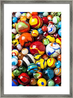 Pile Of Marbles Framed Print by Garry Gay