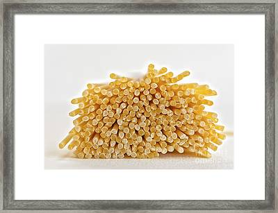 Pile Of Pasta Framed Print by Julian Eales