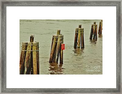 Pilings Framed Print by Wibada Photo