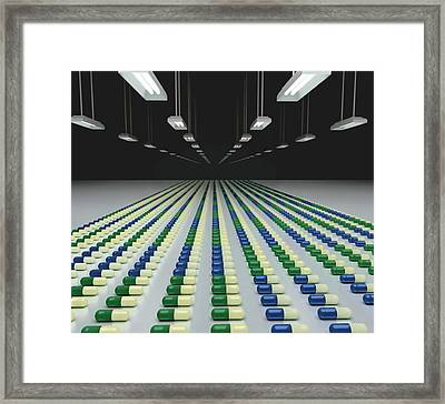 Pill Factory Framed Print by Robert Brook