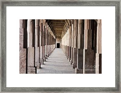 Pillar Hall In The City Of Joy Framed Print by Four Hands Art