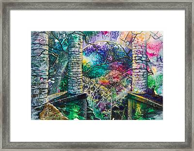 Pillars At The Edge Of The World Framed Print by Patricia Allingham Carlson