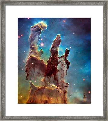 Pillars Of Creation In High Definition Cropped Framed Print by The  Vault - Jennifer Rondinelli Reilly