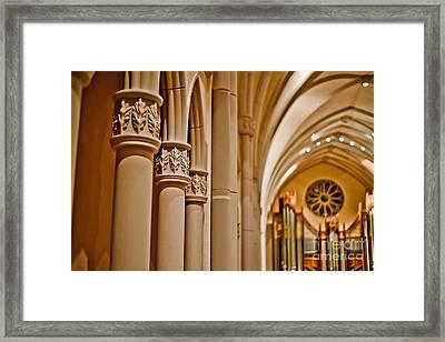 Pillars Of Faith Framed Print by Will Cardoso