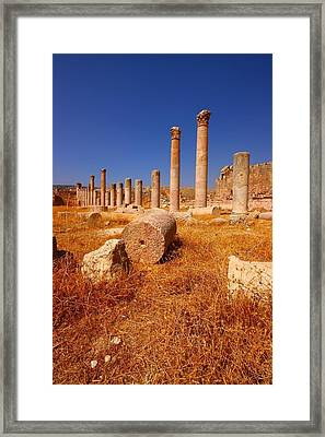Pillars Of Ruin Framed Print by FireFlux Studios