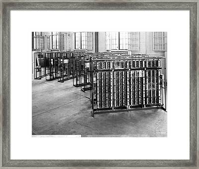 Pilot Ace Computer Components, 1950s Framed Print by Science Photo Library