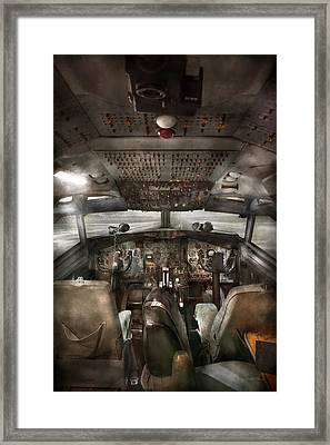 Pilot - Boeing 707  - Cockpit - We Need A Pilot Or Two Framed Print by Mike Savad