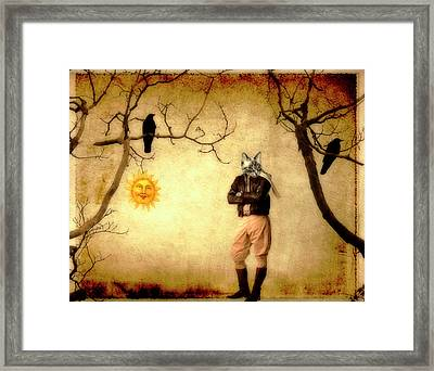 Pilot Framed Print by Gothicolors Donna Snyder