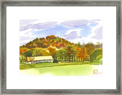 Pilot Knob Mountain Framed Print by Kip DeVore