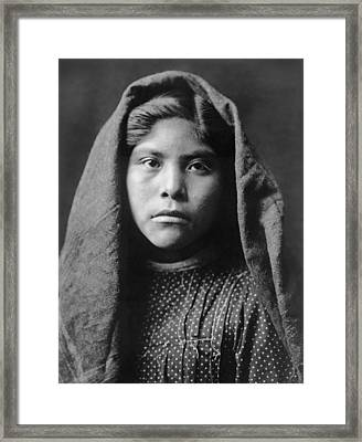 Pima Indian Girl Circa 1907 Framed Print by Aged Pixel