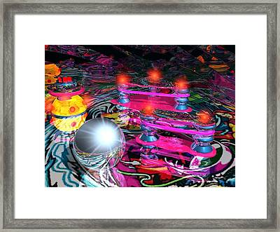 Pin Ball Framed Print by Larry  Page