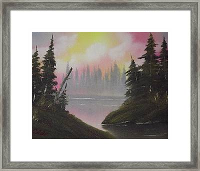 Pine Bay Framed Print by Caleb Mitchell